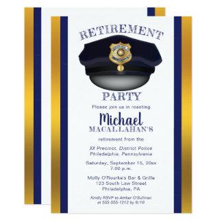 Tarjeta Fiesta de retiro del gorra del poli de la policía