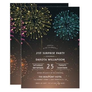 Tarjeta Fiesta de sorpresa moderno de la tipografía del