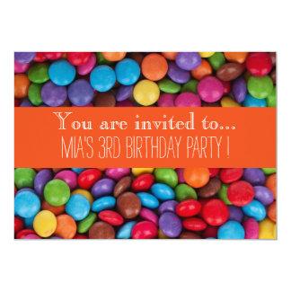 Tarjeta Fiesta del cumpleaños del niño del chocolate del