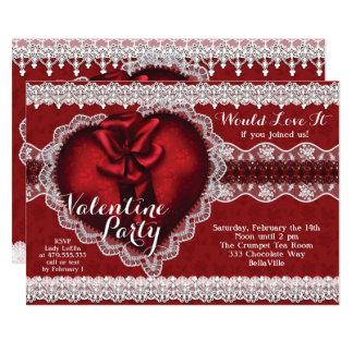 Tarjeta Fiesta del el día de San Valentín del amor