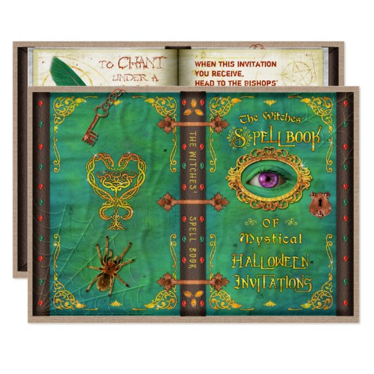 Tarjeta Fiesta del globo del ojo del libro del encanto