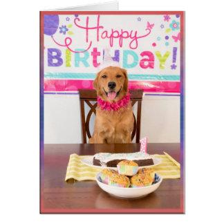 Tarjeta Fiesta del perro del feliz cumpleaños con mi Dawg