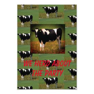 Tarjeta Fiesta del rebaño de vacas