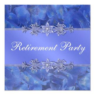 Tarjeta Fiesta del retiro de la mujer azul elegante del