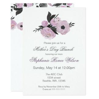 Tarjeta Fiesta del té floral del brunch del día de madre