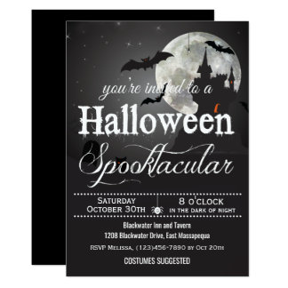 Tarjeta Fiesta del traje de Spooktacular Halloween