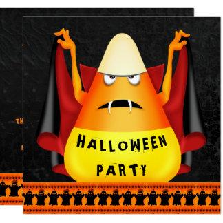Tarjeta Fiesta divertido de Halloween de las pastillas de