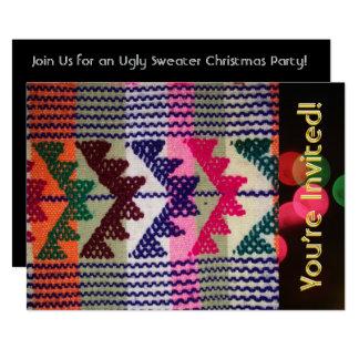 Tarjeta Fiesta feo de los suéteres del navidad modificado