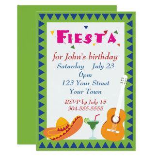 Tarjeta Fiesta mexicano de la fiesta