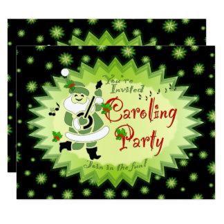 Tarjeta Fiesta musical Invitat de Caroling del navidad del