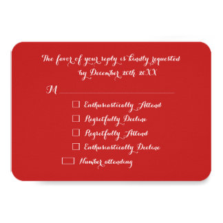 Tarjeta Fiesta rojo RSVP de LOL del navidad divertido de