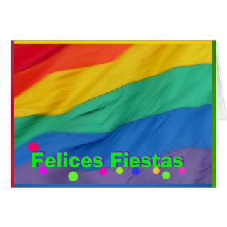 Tarjeta - fiestas de Felices - Bandera del Arco