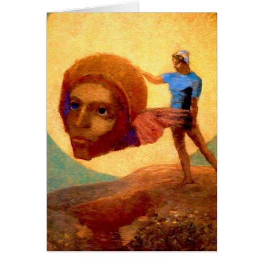 Tarjeta Figura de Odilon Redon