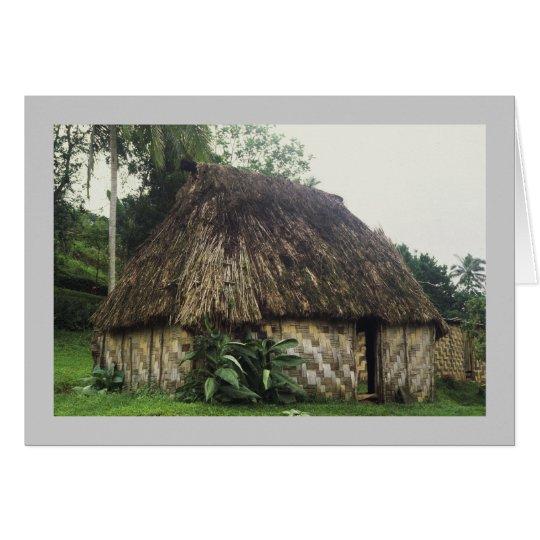 Tarjeta, Fijian Bure, Naitauvoli, Viti Levu Tarjeta De Felicitación