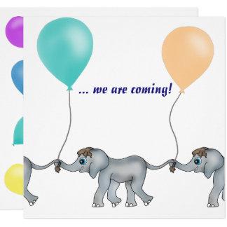 Tarjeta Fila del elefante por los Happy Juul Company