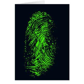 Tarjeta fingerprint-257038 HUELLA DACTILAR VERDE DE NEÓN