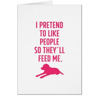 Tarjeta Finjo tener gusto de la gente Labrador