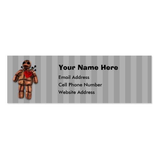 Tarjeta flaca del perfil de la muñeca del vudú tarjeta de negocio