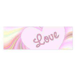 Tarjeta flaca del perfil del amor tarjeta personal