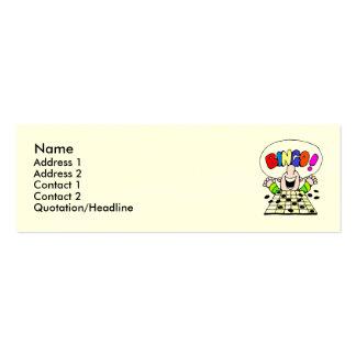 Tarjeta flaca del perfil del bingo tarjetas de visita mini