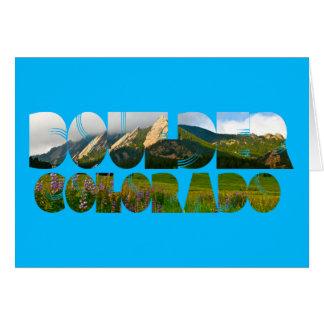 Tarjeta Flairons, Boulder Colorado