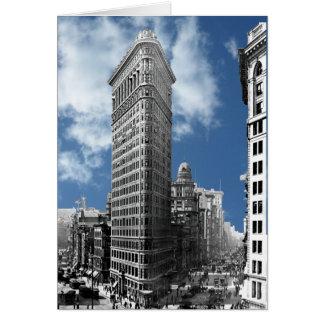 Tarjeta Flatiron que construye New York City
