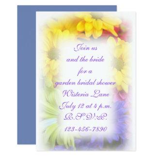 Tarjeta Flor 5x7 del verano con los sobres