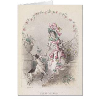 Tarjeta Flor de la mala hierba de las cabras
