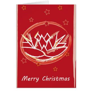 Tarjeta Flor de las Felices Navidad