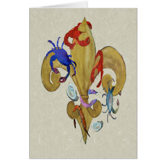 Tarjeta Flor de lis de Cajun