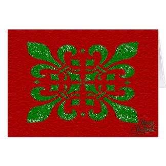 Tarjeta Flor de lis del navidad