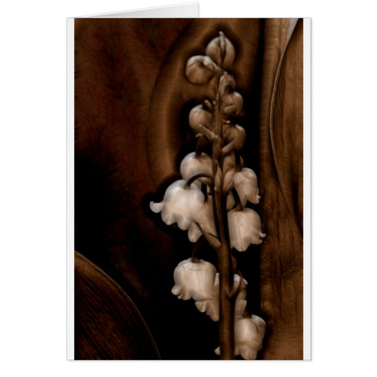 Tarjeta Flor del lirio de los valles en Brown oscuro