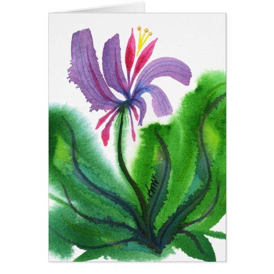 Tarjeta Flor, mini 002