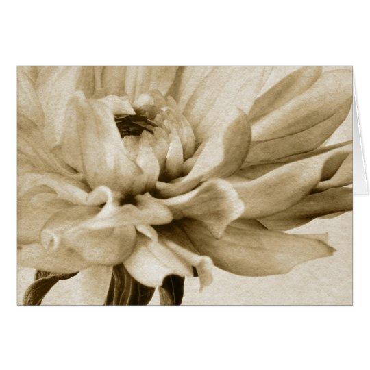 Tarjeta Flor poner crema de la dalia - fondo floral de las