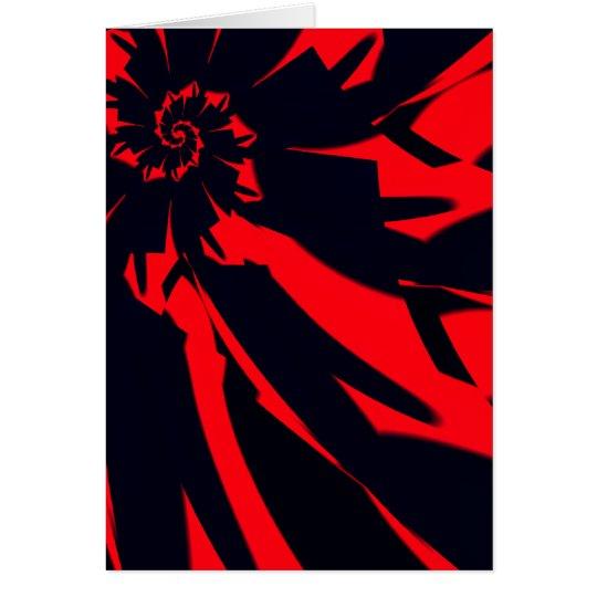 Tarjeta Flor roja/negra