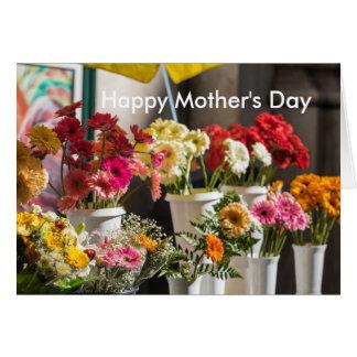 Tarjeta floral brillante del día de madre