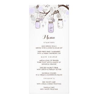 Tarjeta floral caprichosa del menú de los tarros tarjetas publicitarias