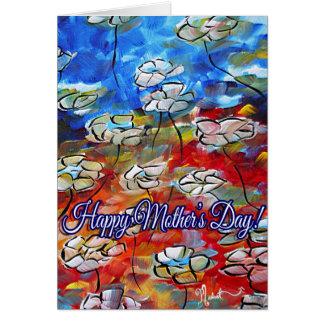 Tarjeta floral colorida del día de madres del arte