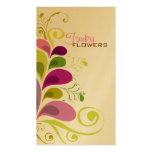 Tarjeta floral colorida del perfil de la naturalez plantillas de tarjeta de negocio