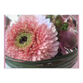 Tarjeta floral dalia