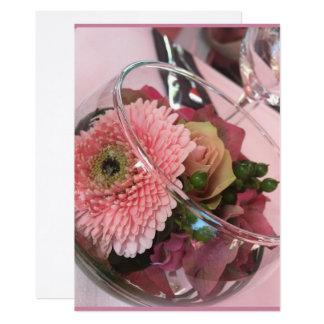 Tarjeta floral dalia invitación 12,7 x 17,8 cm