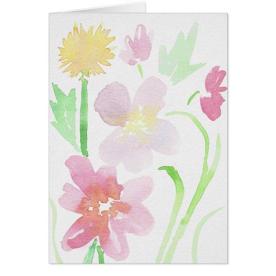 tarjeta floral de la acuarela