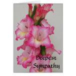 Tarjeta floral de la condolencia más profunda AB