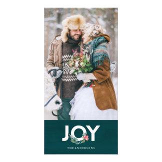 Tarjeta floral de la foto de la alegría