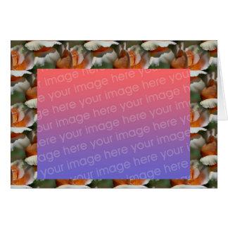 Tarjeta floral de la foto del capullo de rosa del