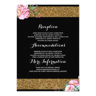 Tarjeta floral de la huésped de la información del invitación 11,4 x 15,8 cm