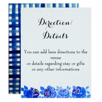 Tarjeta floral de la invitación de los detalles de