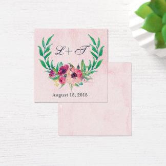 Tarjeta floral de la placa de identificación del