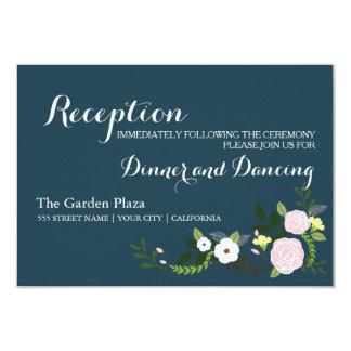 Tarjeta floral de la recepción del jardín de la invitación 8,9 x 12,7 cm