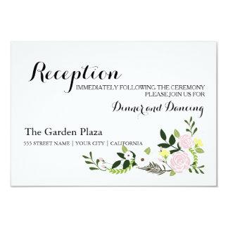 Tarjeta floral de la recepción del jardín invitación 8,9 x 12,7 cm